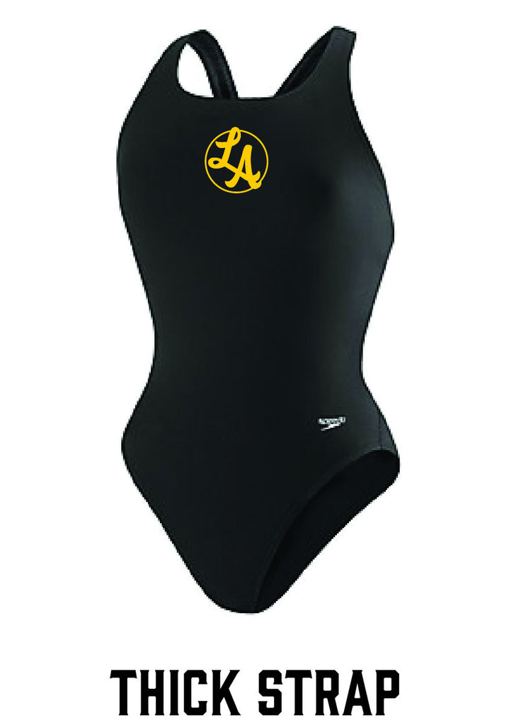 LA Thick Strap Female Team Suit