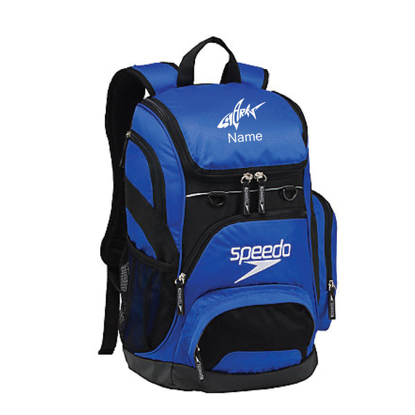 Speedo Teamster Backpack with Customized Name and Logo