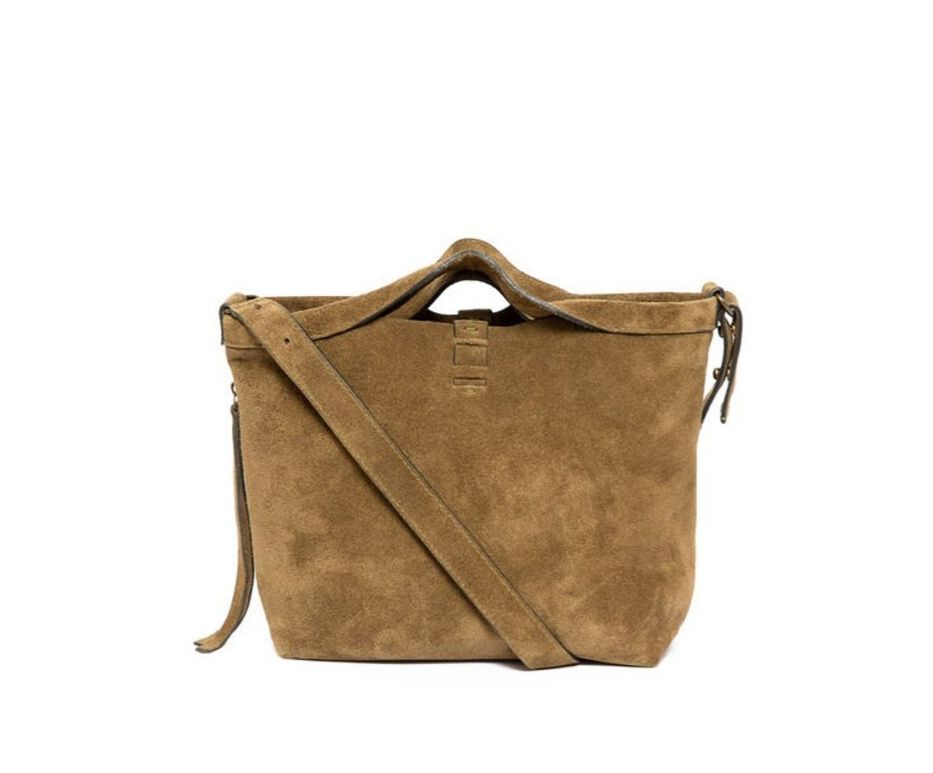 DARK GOLD SHOPPER MINI SUEDE
