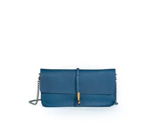 SALE! WIRE CLUTCH W/ CHAIN RUSSIAN BLUE