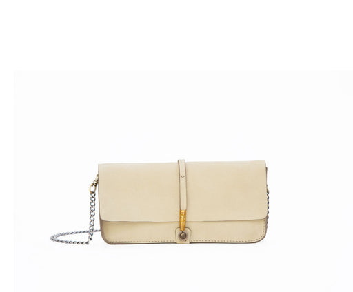 SALE! LIGHT LEMON WIRE CLUTCH W/ CHAIN