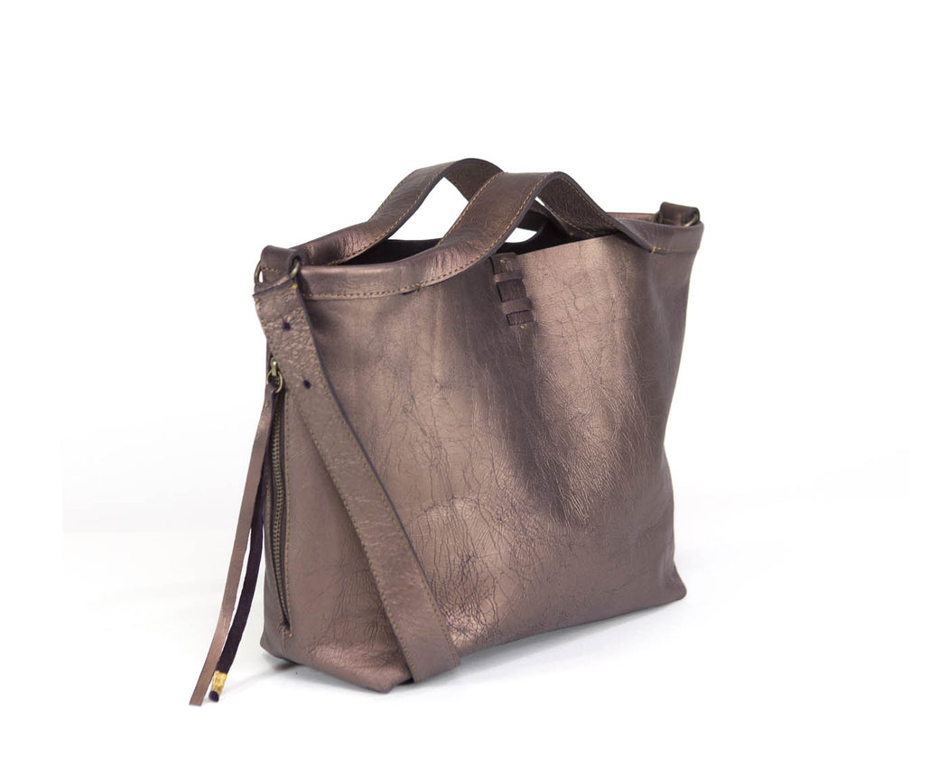DUSTED BRONZE SHOPPER MINI