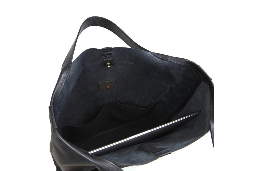 JET BLACK SHOPPER SHOULDER