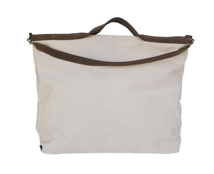 Canvas Shopper Weekender Bone