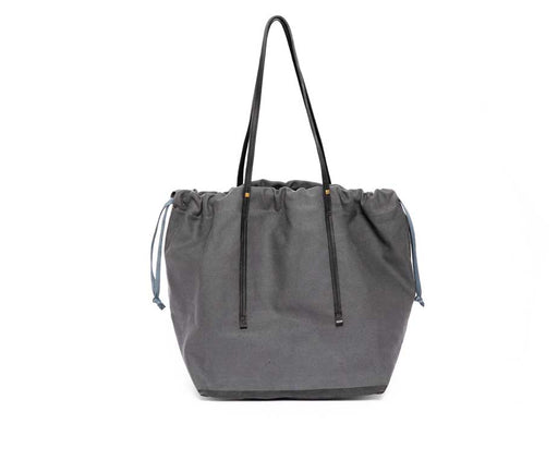 DRAWSTRING SCHLEPPER WIDE GRAY