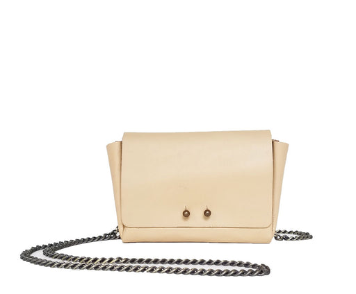 [SALE] LIGHT NUDE WALLET W/CHAIN STRAP