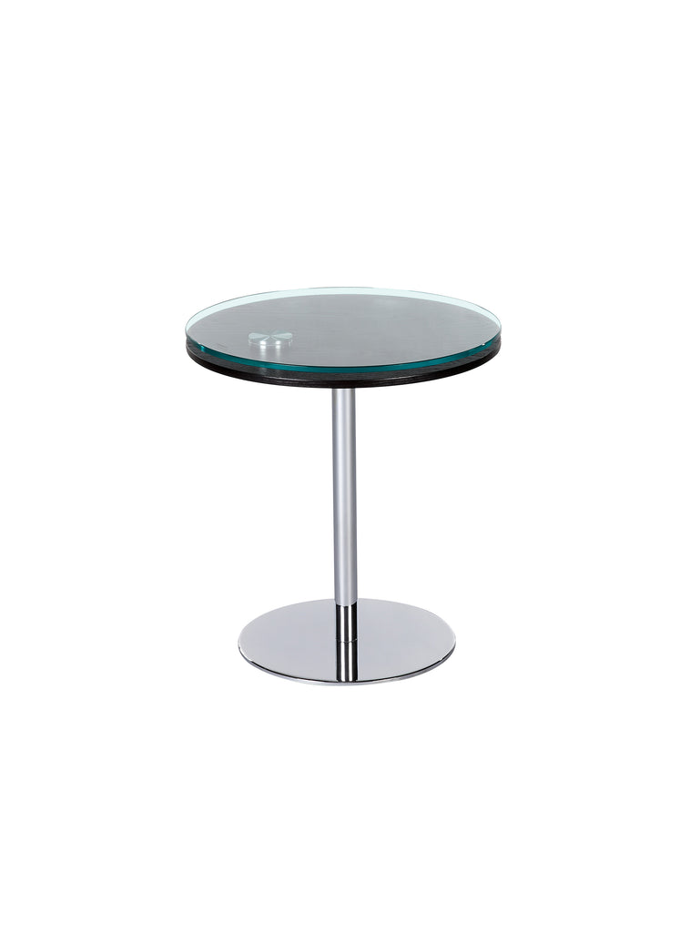 Chintaly - 8176 Series 8176 Motion Lamp Table Merlot & Chrome