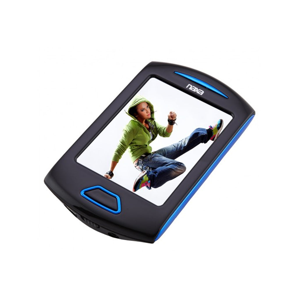 Naxa  Portable Media Player W/ 2.8'' Touch Screen, Built-In 4GB Flash Memory MP3 Player-Blue