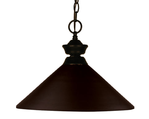 Z-Lite 100701BRZ-MBRZ Shooter 1 Light Pendant with Bronze Steel Frame