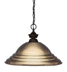 Z-Lite 100701BRZ-SAB Shark 1 Light Pendant with Bronze Steel Frame