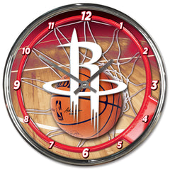 Houston Rockets Clock Round Wall Style Chrome - Wincraft, Inc.
