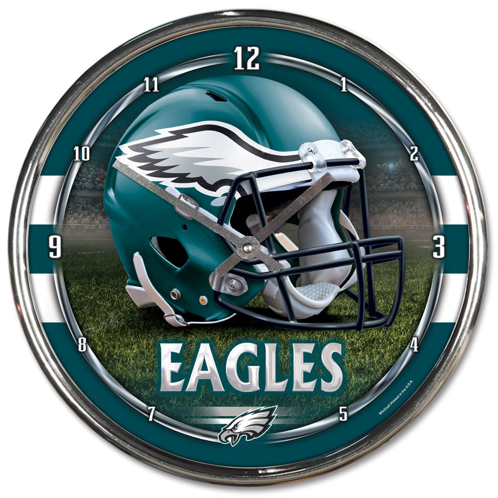 Philadelphia Eagles Round Chrome Wall Clock - Wincraft