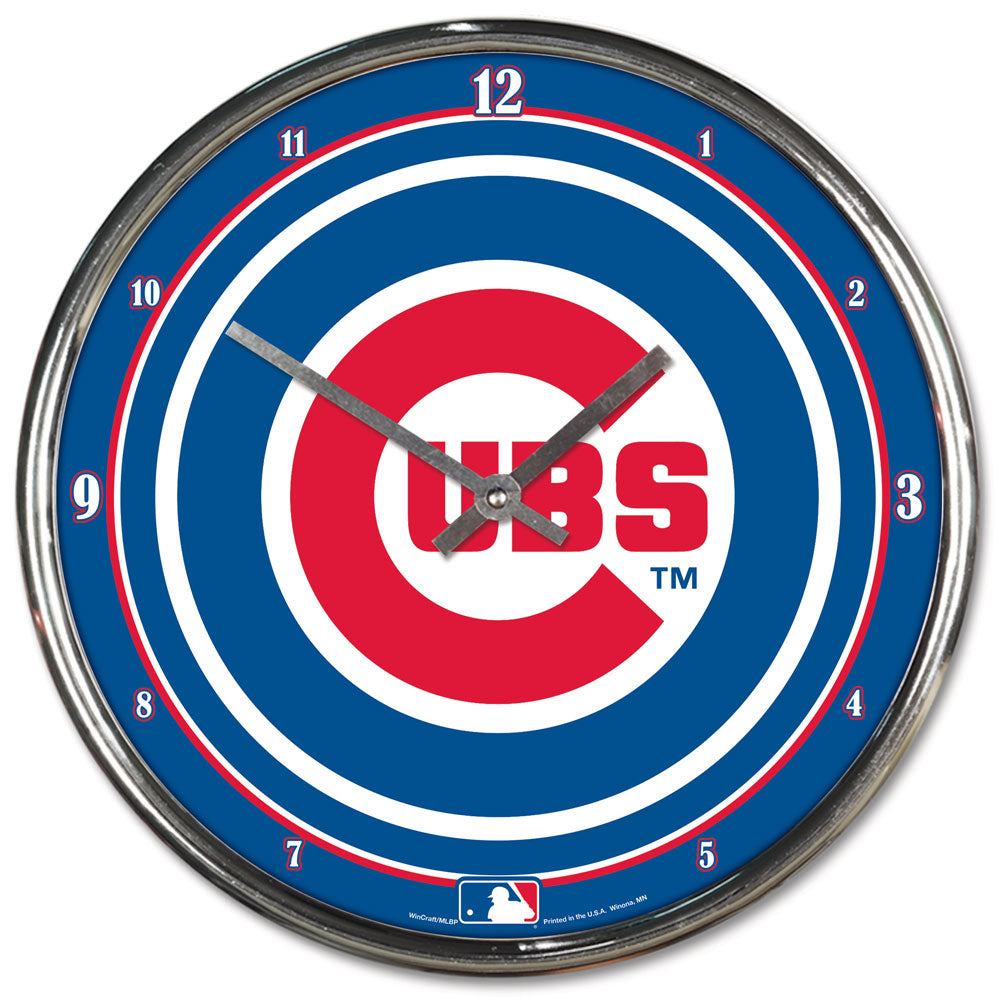 Chicago Cubs Round Chrome Wall Clock - Wincraft