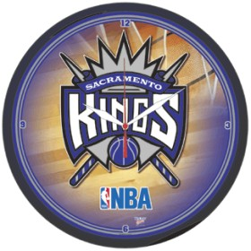 Sacramento Kings Clock Round Wall Style Chrome Alternate - Wincraft