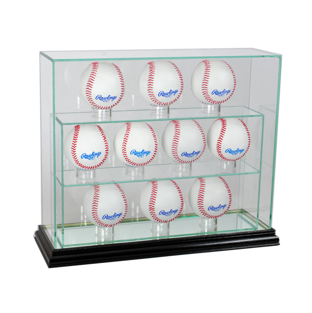11 Baseball Upright Display Case with Black Moulding