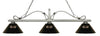 Z-Lite 114-3AS-ARS Melrose 3 Light Billiard Light with Antique Silver Steel Frame