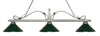 Z-Lite 114-3AS-MDG Melrose 3 Light Billiard Light with Antique Silver Steel Frame