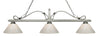 Z-Lite 114-3AS-PWH Melrose 3 Light Billiard Light with Antique Silver Steel Frame