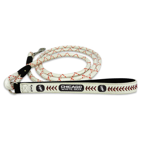 Chicago White Sox Frozen Rope Baseball Leather Leash - L - Gamewear