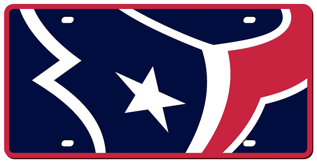 Houston Texans License Plate - Acrylic Mega Style - Stockdale Technologies