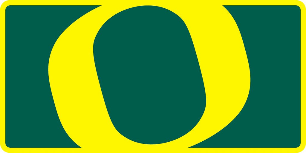 Oregon Ducks License Plate - Acrylic Mega Style - Stockdale Technologies