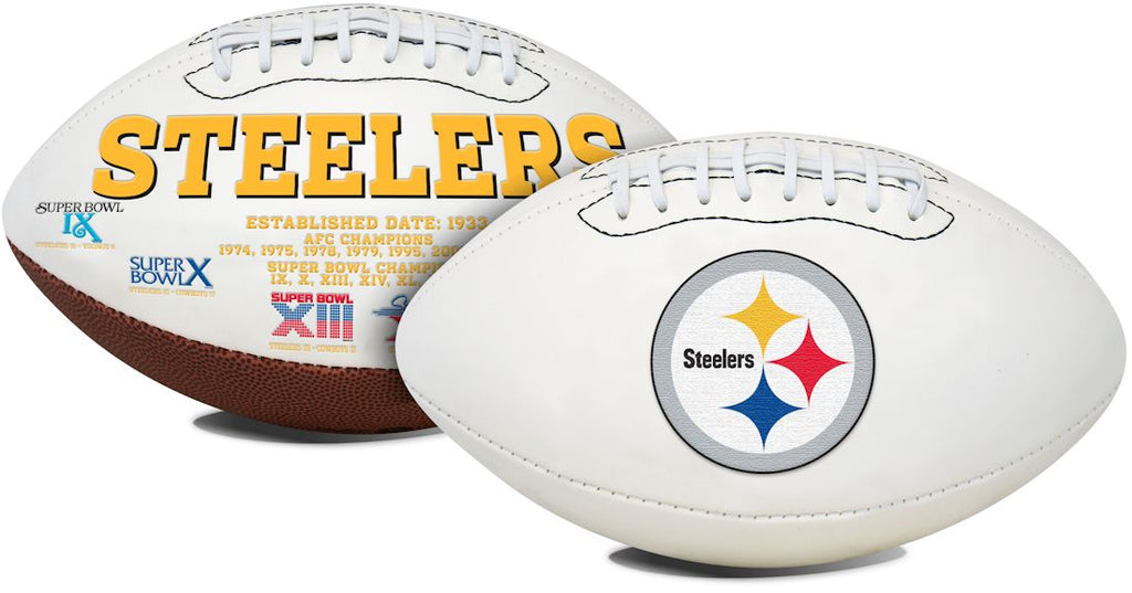 Pittsburgh Steelers Football Full Size Embroidered Signature Series - Jarden