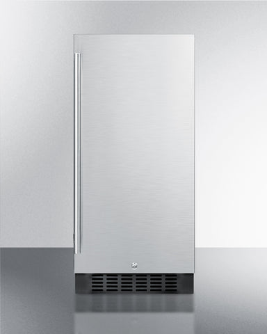 15'' Wide Built-In Outdoor  Refrigerator In Stainless Steel With Lock And Digital Thermostat - SPR316OSCSS Summit Appliance