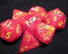 Chessex - Chessex: Vortex Red/Yellow 7-Die Set