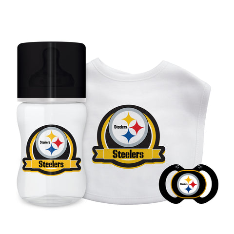Pittsburgh Steelers Baby Gift Set 3 Piece - Baby Fanatic