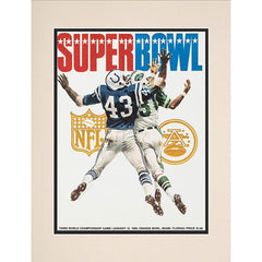 1969 Jets vs. Colts 10.5'' x 14'' Matted Super Bowl III Program
