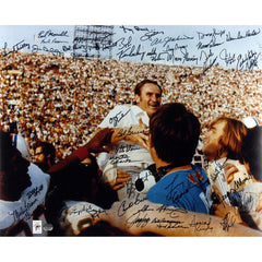 1972 Miami Dolphins Autographed 20'' x 24'' Shula On Shoulders Photograph