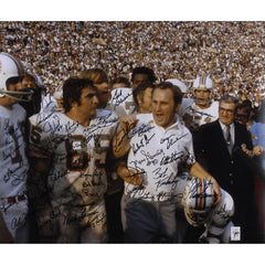 1972 Miami Dolphins Autographed 20'' x 24'' Shula Walking Photograph