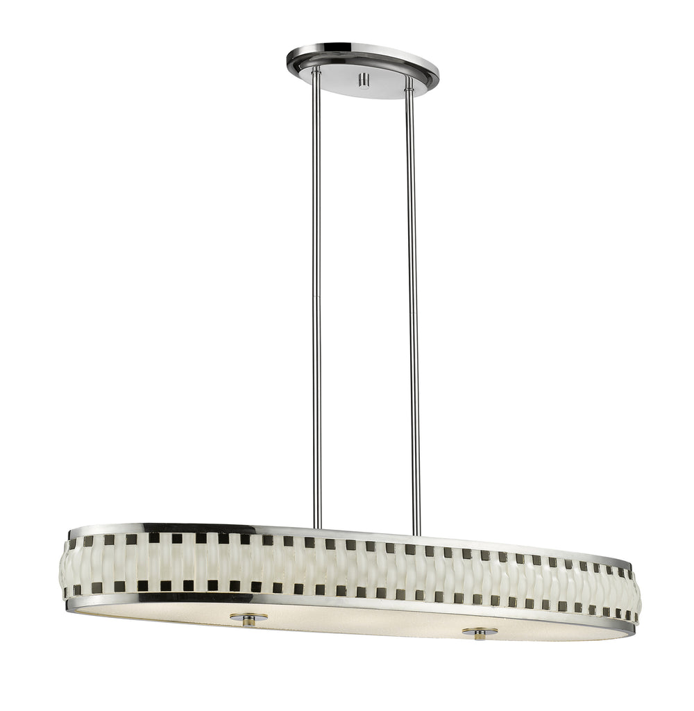 Z-Lite 2008-35CH-LED Sevier LED Pendant with Chrome  Steel Frame