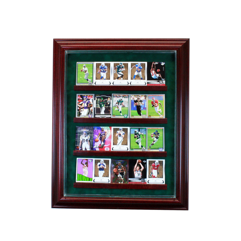 20 Card Cabinet Style Display Case with Cherry Moulding