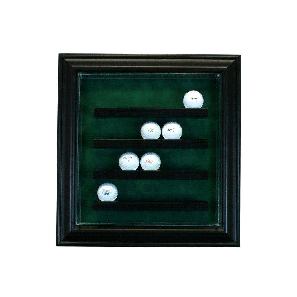 20 Golf Ball Cabinet Style Display Case with Cherry Moulding