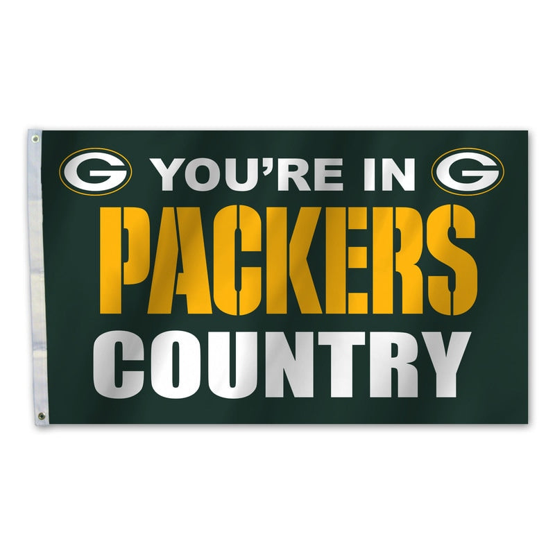 Green Bay Packers Flag 3x5 Country - Fremont Die