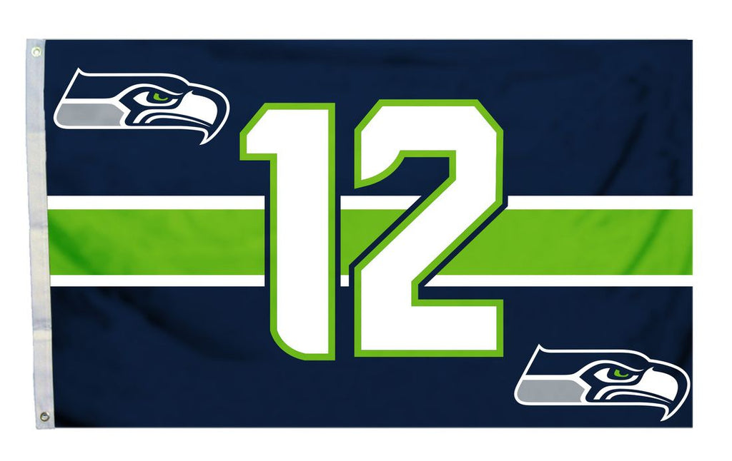 Seattle Seahawks Flag 3x5 12th Man - Fremont Die