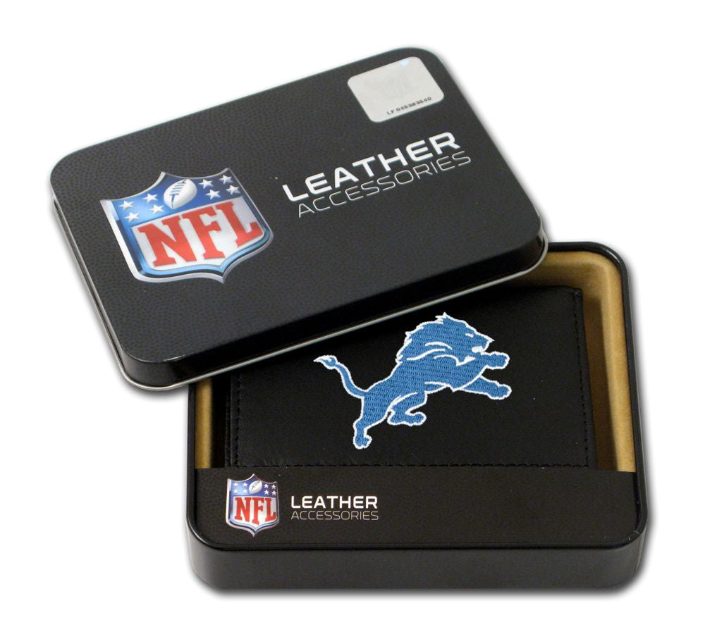 Detroit Lions Wallet Trifold Leather Embroidered - Rico Industries