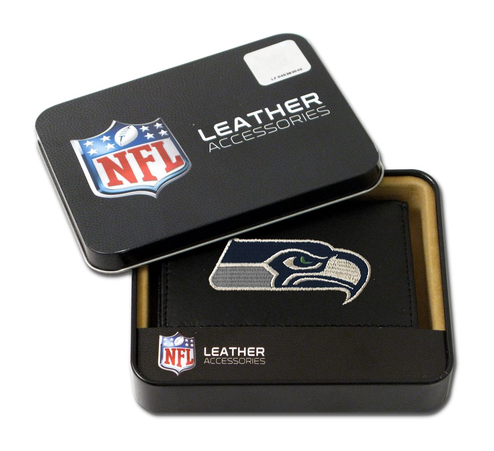 Seattle Seahawks Wallet Trifold Leather Embroidered - Rico Industries
