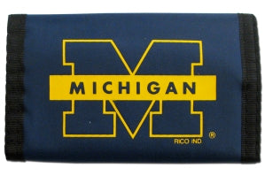 Michigan Wolverines Wallet Nylon Trifold - Rico Industries
