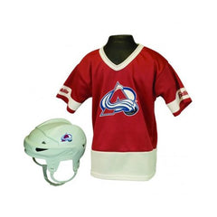 Colorado Avalanche Hockey Helmet and Jersey Top Set - Franklin Sports