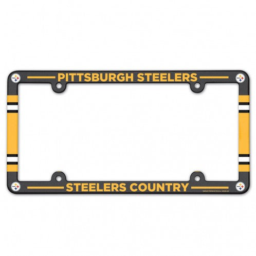 Pittsburgh Steelers License Plate Frame Plastic Full Color Style - Wincraft