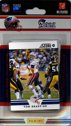 New England Patriots 2012 Score Team Set - C & I Collectables