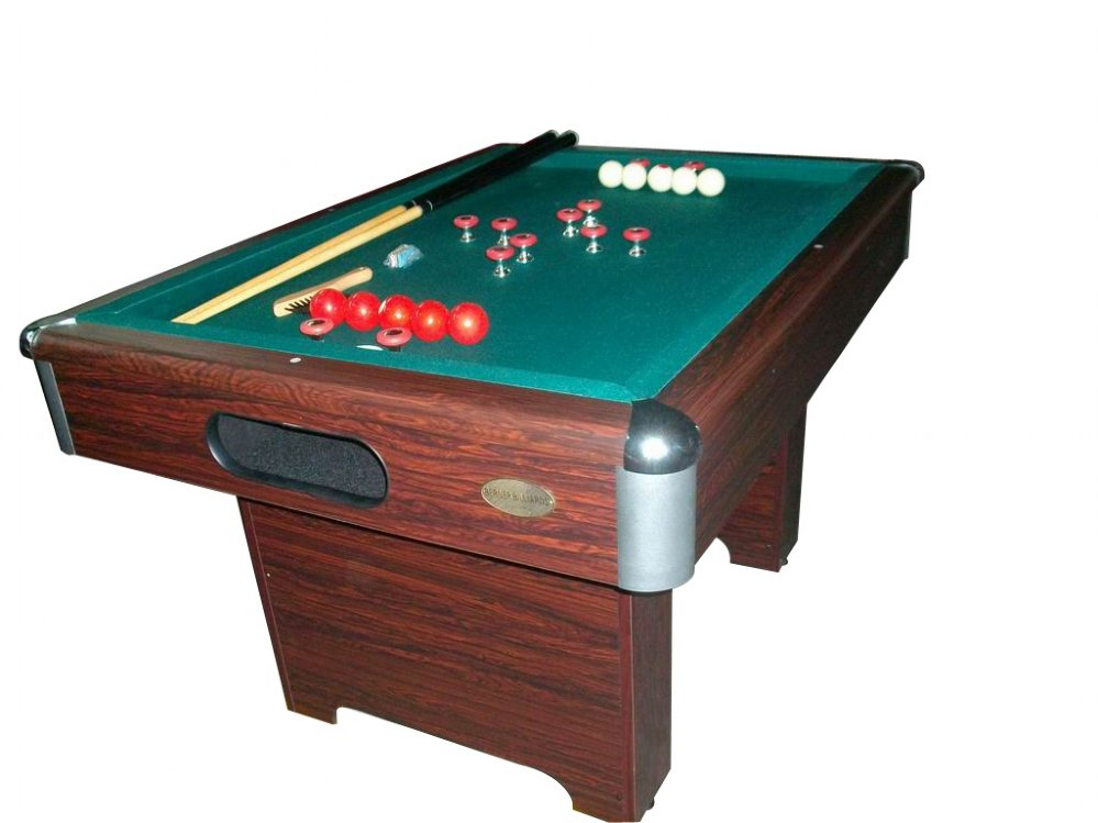 Slate Bumper Pool Table in Walnut