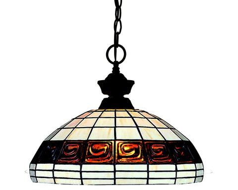 Z-Lite 100701BRZ-F14-1 Pendant Lights 1 Light Pendant with Bronze Steel Frame