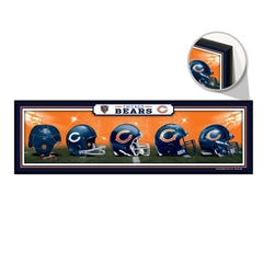 Chicago Bears 9x30 Wood Sign - Helmets -