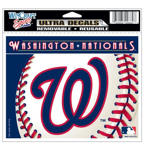 Washington Nationals Decal 5x6 Ultra Color - Wincraft