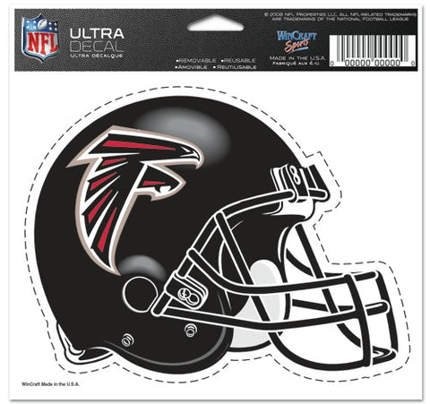 Atlanta Falcons Decal 5x6 Ultra Color Helmet - Wincraft