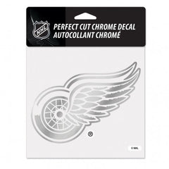 Detroit Red Wings Decal 6x6 Perfect Cut Chrome - Wincraft