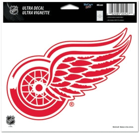 Detroit Red Wings Decal 5x6 Ultra Color - Wincraft